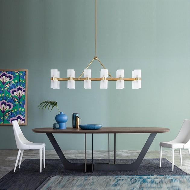 tavolo ovale massello Cosmopolitan 1a