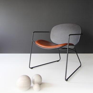 Tondina lounge poltrona in stile vintage