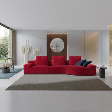 Comfort divano con forme quadrate