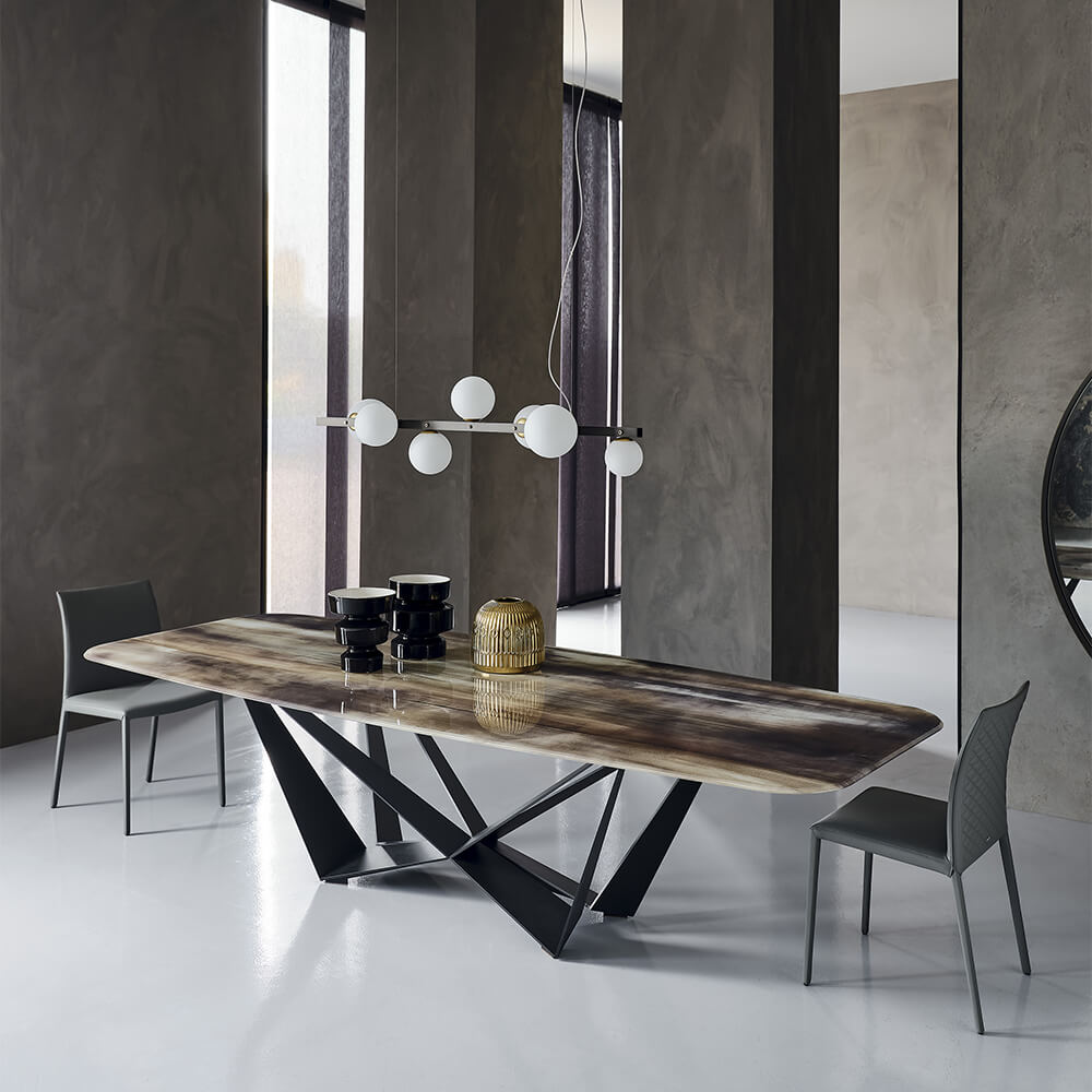 tavolo design base verniciata Skorpio CrystalArt 01