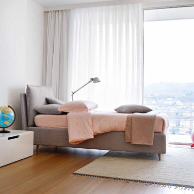 Ambra letto imbottito singolo 100 cm