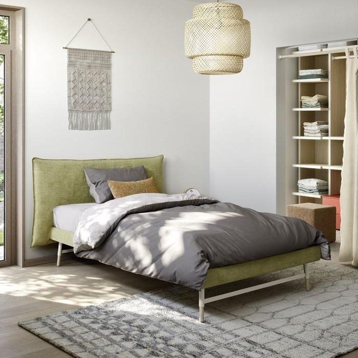 letto una piazza 1-2 legno tessuto Pillow (700 x 700) 01